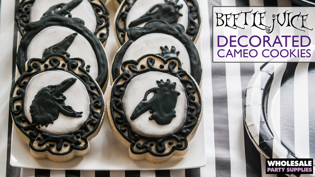 Beetlejuice Themed Decorated Cookies