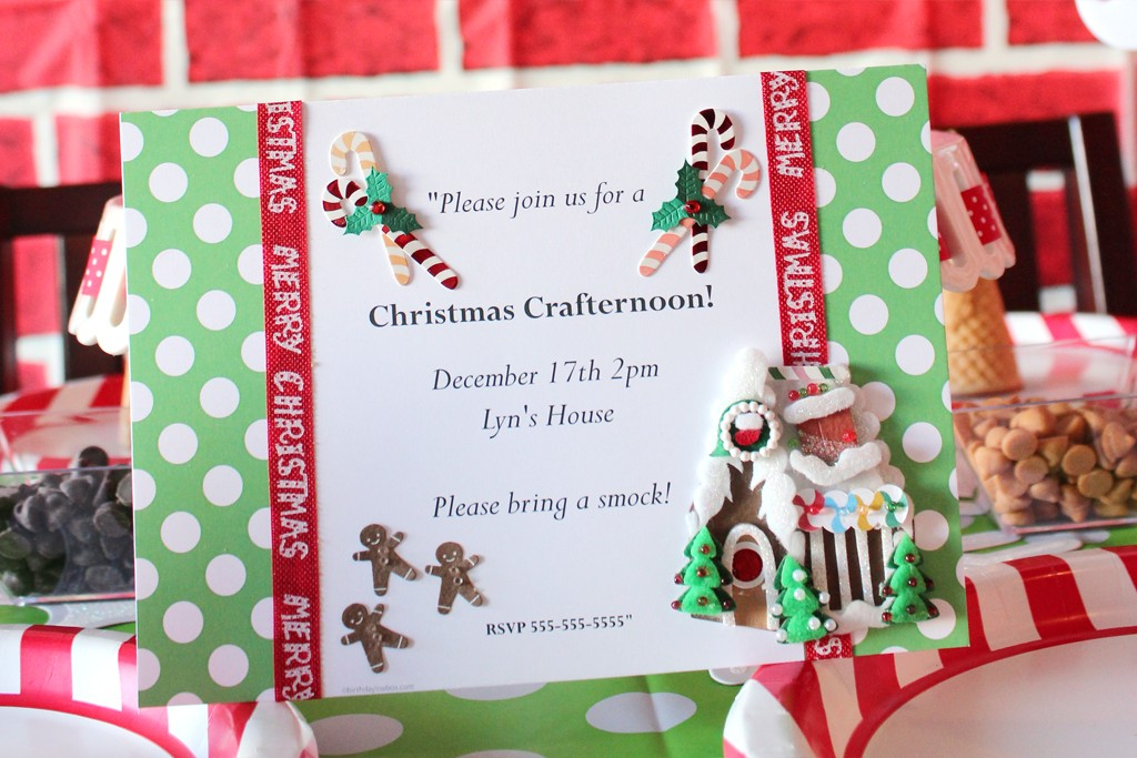 Christmas Crafting Party Invitation