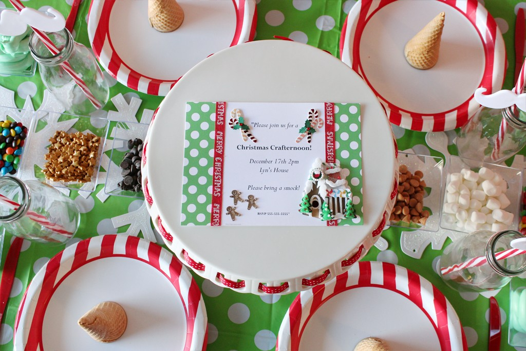Christmas Crafting Party Decorations