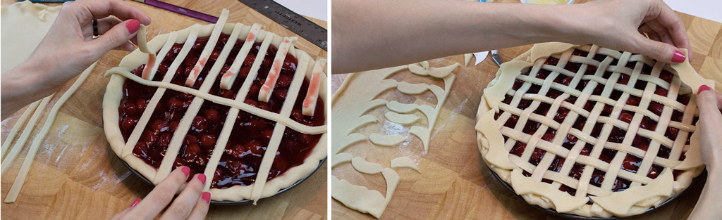 Monster High Crest Lattice Pie Step 1