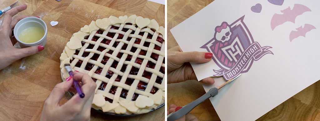 Monster High Crest Lattice Pie Step 2