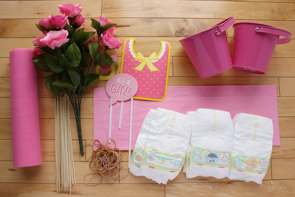 DIY Diaper Bouquet Supplies