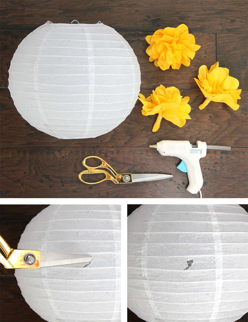 DIY Hanging Flower Globe Decoration Step 2