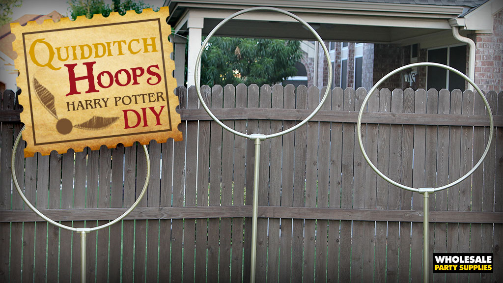 DIY Quidditch Goals from Harry Potter