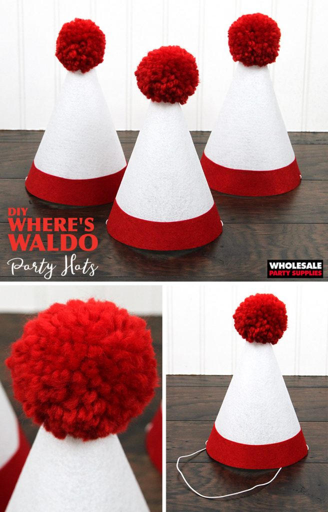 DIY Wheres Waldo Party Hat Pinterest