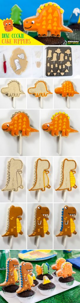 Dinosaur Cookie Cake Toppers Pinterest Guide