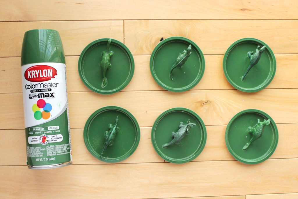 DIY Dinosaur Birthday Party Favors Step 2
