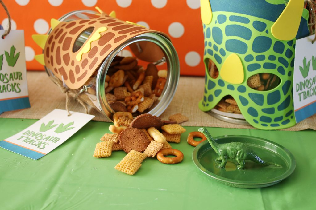 DIY Dinosaur Birthday Party Favors Step 3