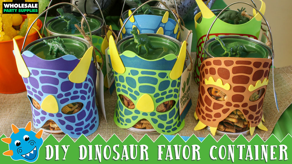 DIY Dinosaur Favor Container