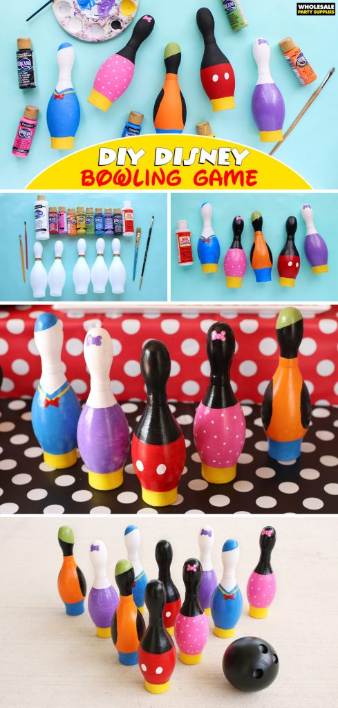 DIY Mickey Mouse Bowling Game Pinterest Guide