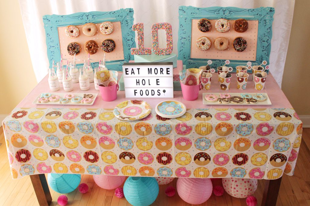 Donut Party Birthday Table