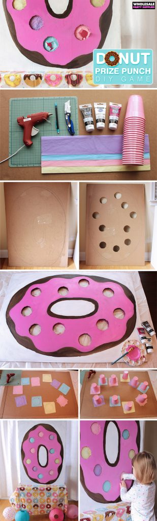 DIY Donut Prize Punch How-To Pinterest Guide