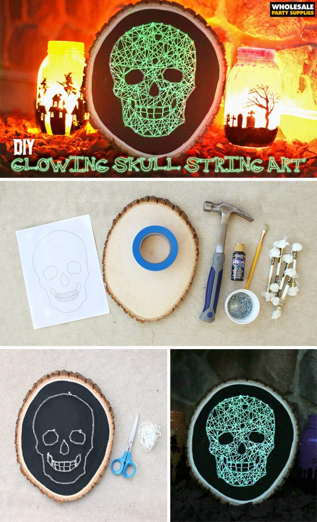 DIY Glowing Skull String Art Pinterest Guide