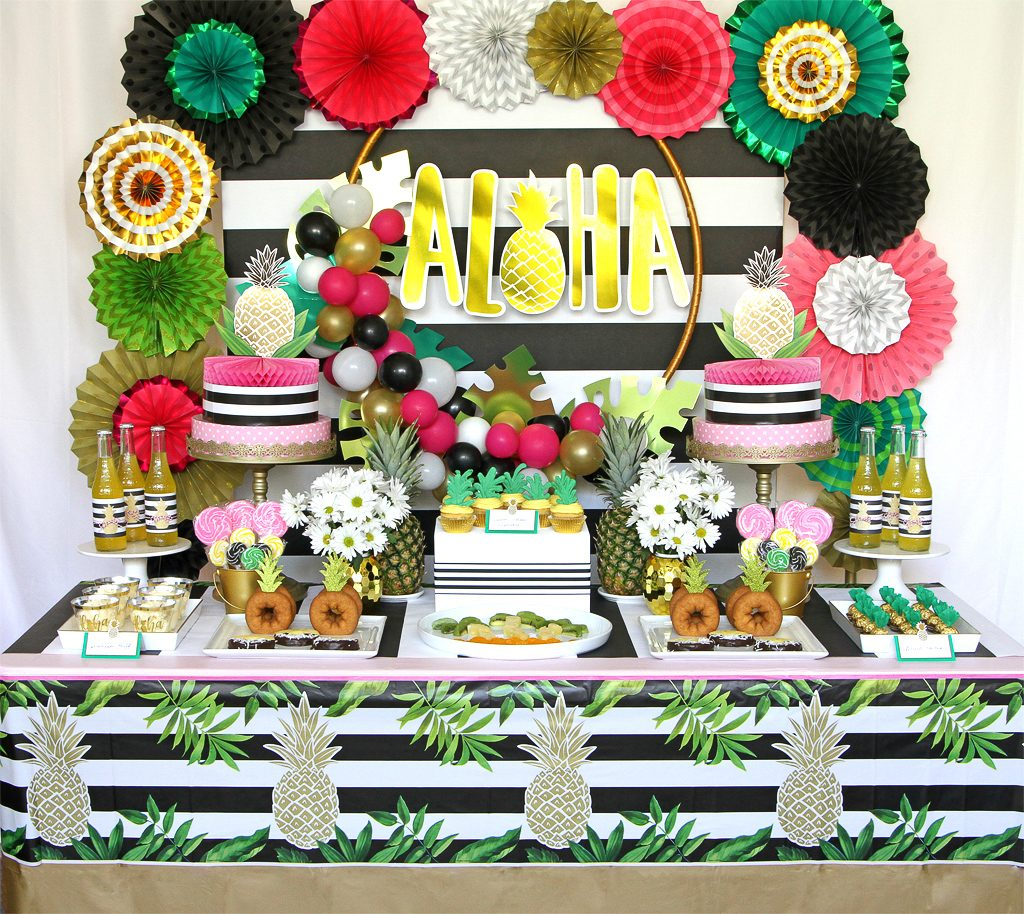 Golden Pineapple Party Decorations