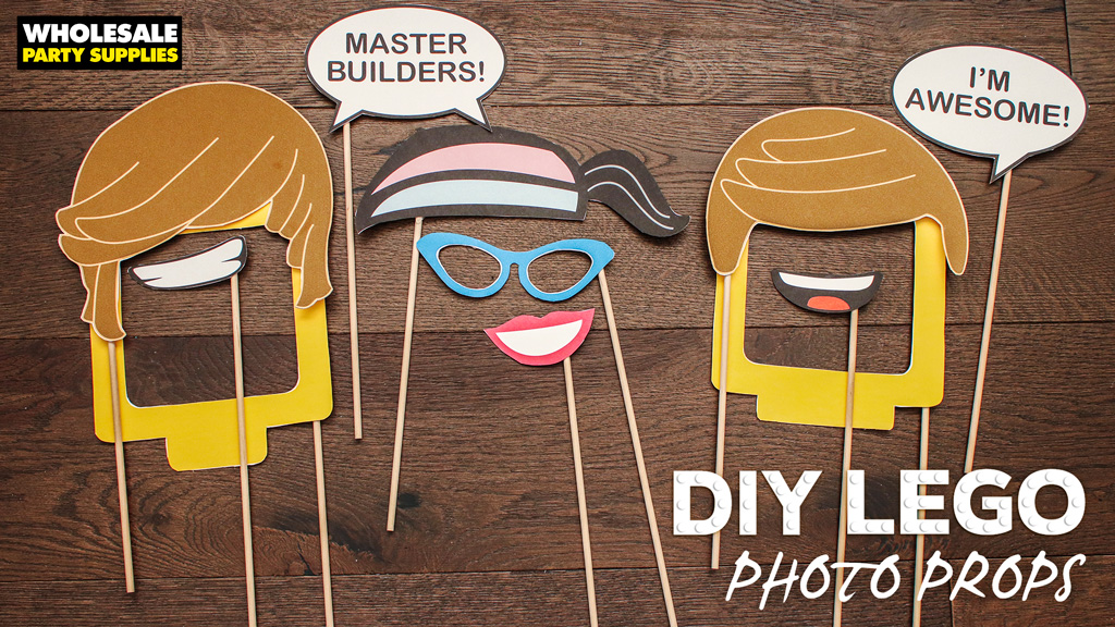 Lego Movie DIY Printable Photo Props