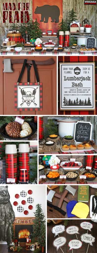 Lumberjack Plaid Party Pinterest Guide