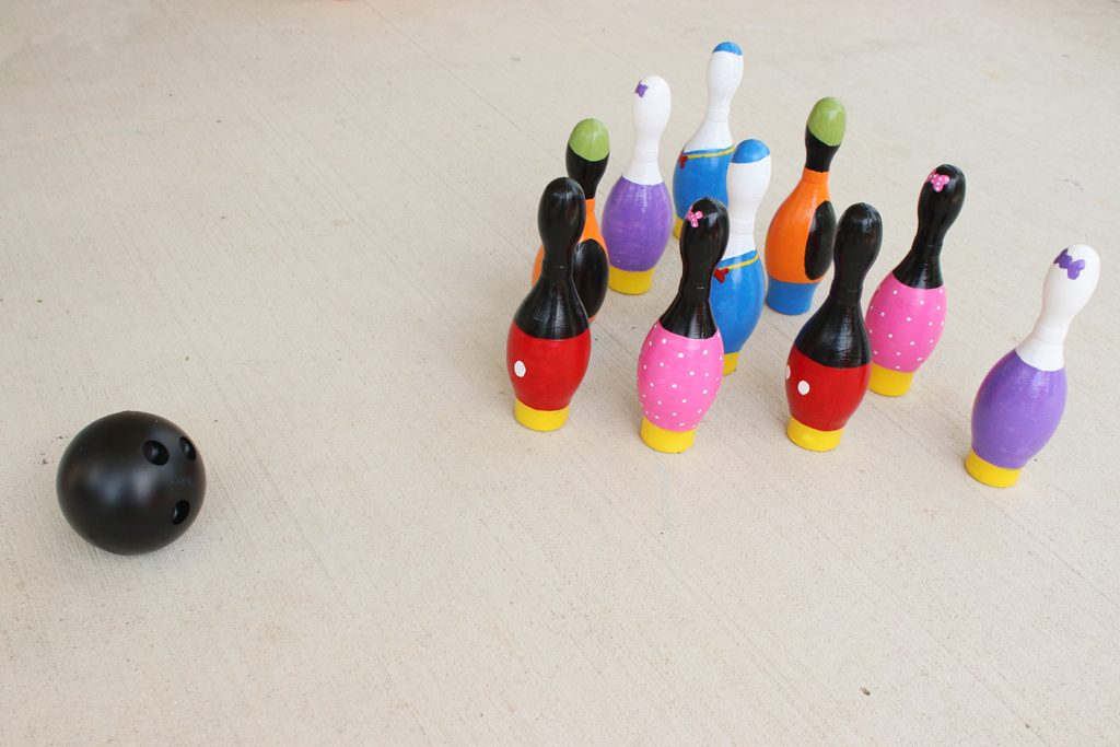DIY Mickey Mouse Bowling Game