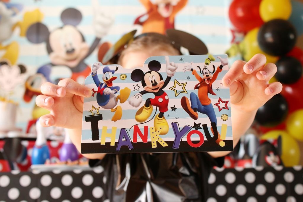 Mickey Mouse Party Thank You Cards
