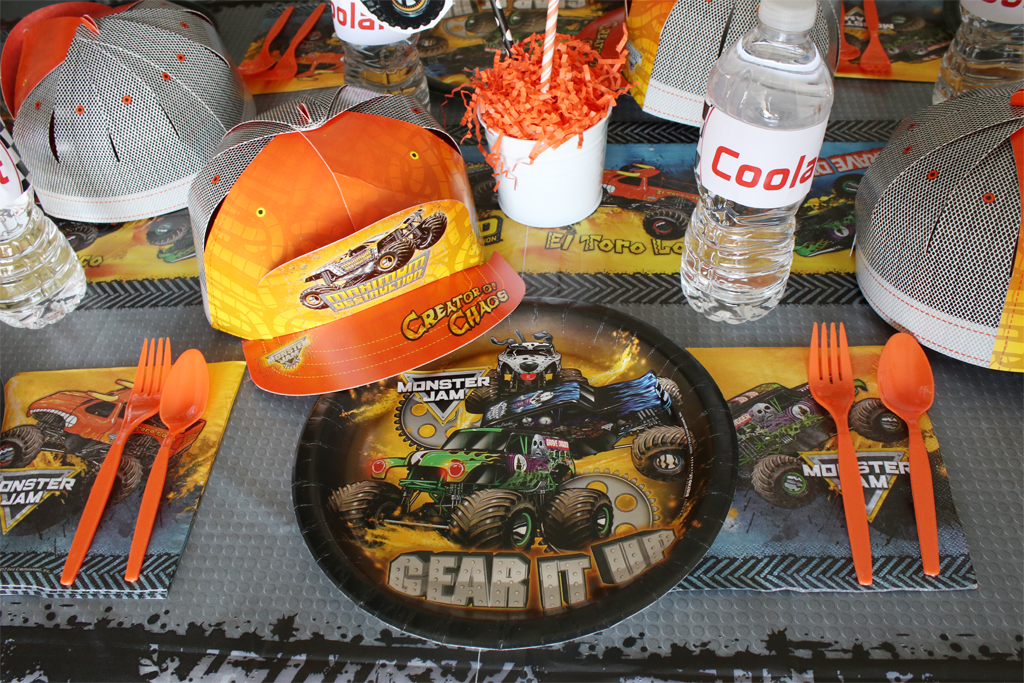 Monster Truck Party Place Setting