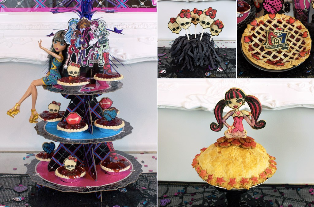 Monster High Pie Party Buffet Table Details