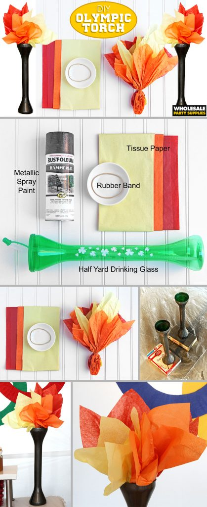 DIY Olympic Torch Tutorial Pinterest Guide