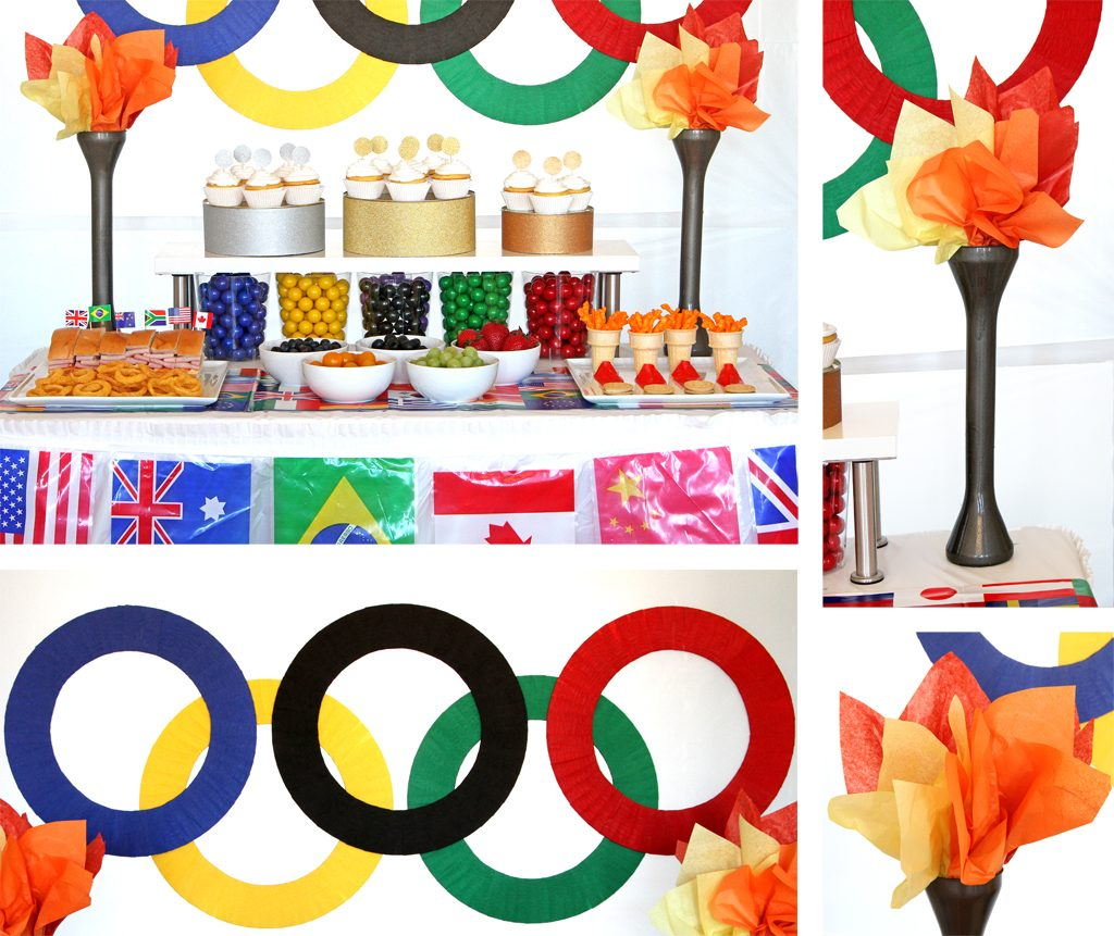 Olympics Watch Party Food Table