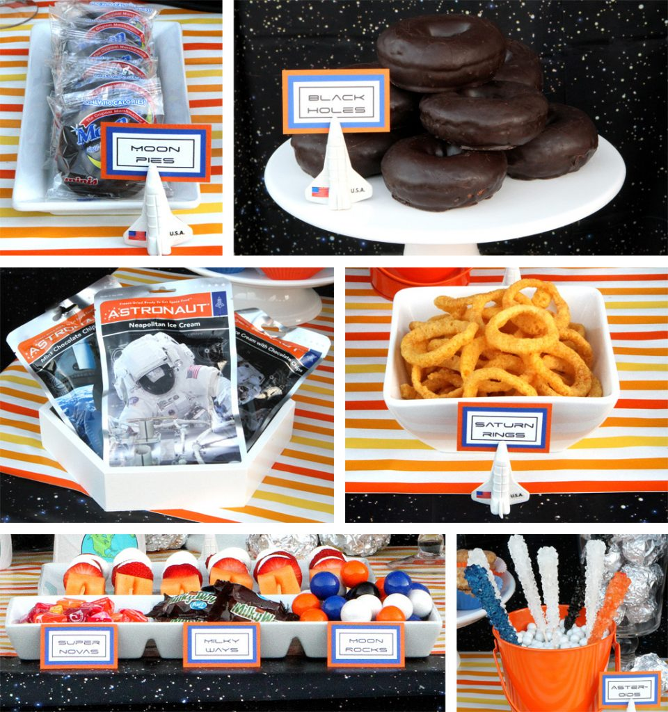 Outer Space Birthday Party Food