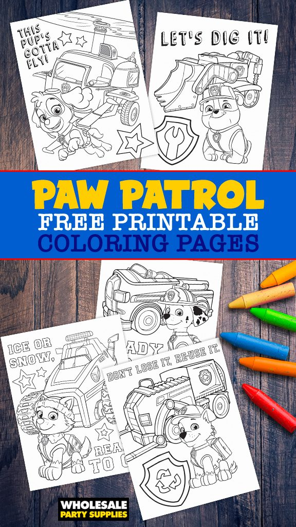 Paw Patrol FREE Printable Coloring Pages Pinterest