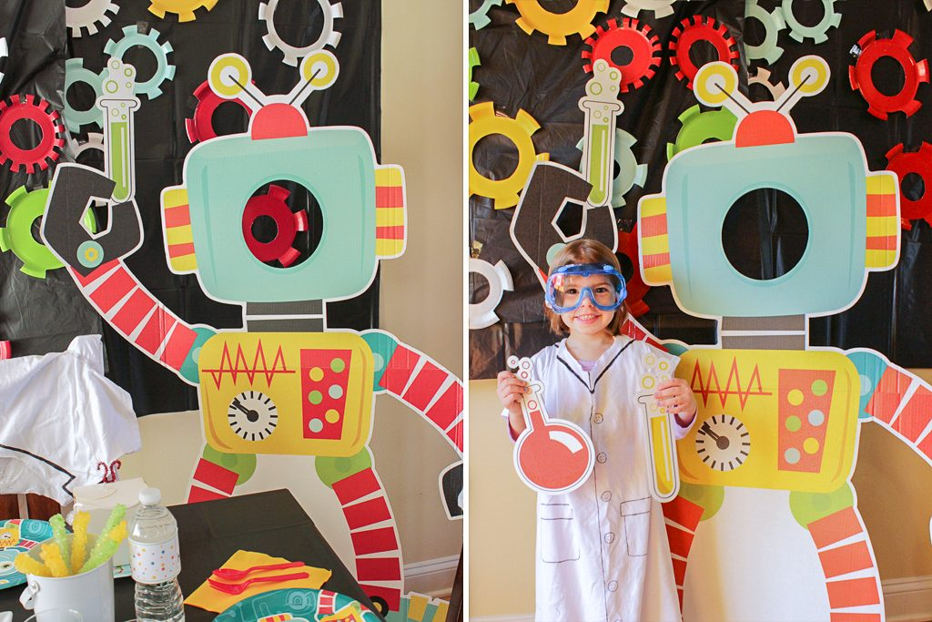 Robot Science Party Photo Booth