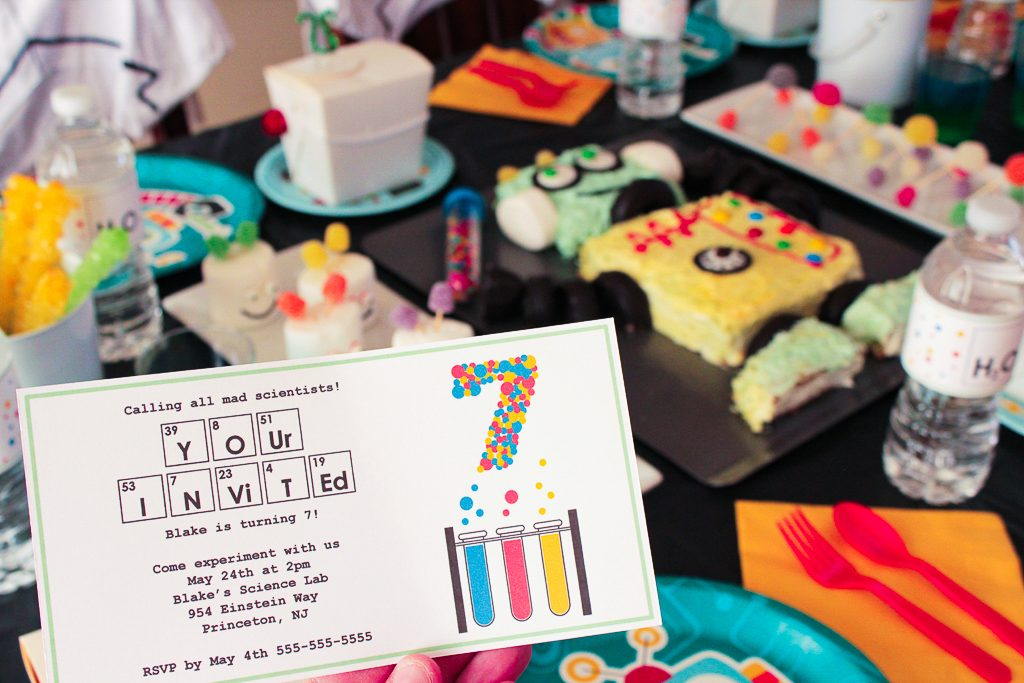 Robot Science Party Invitations