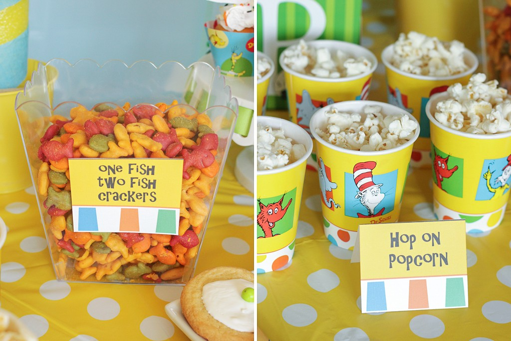 Dr. Seuss Birthday Party Food Details