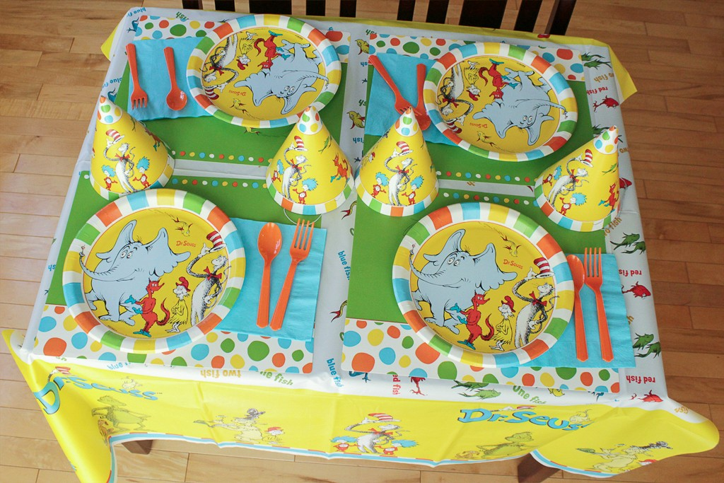 Dr. Seuss Birthday Party Tableware