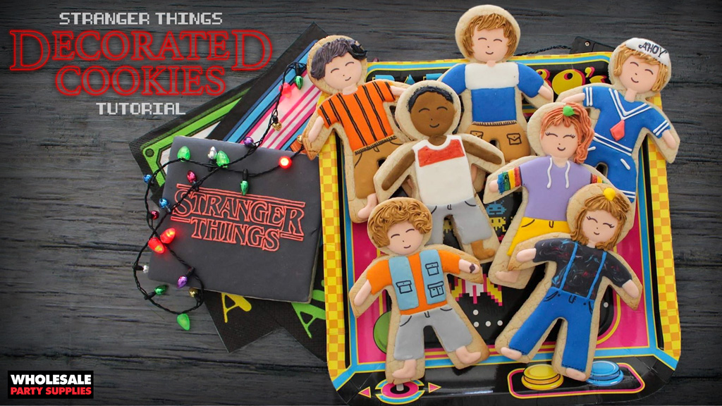 Stranger Things Decorated Cookies
