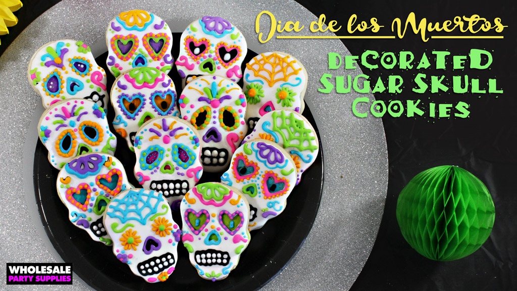 Day of the Dead Decorated Sugar Skull Cookies