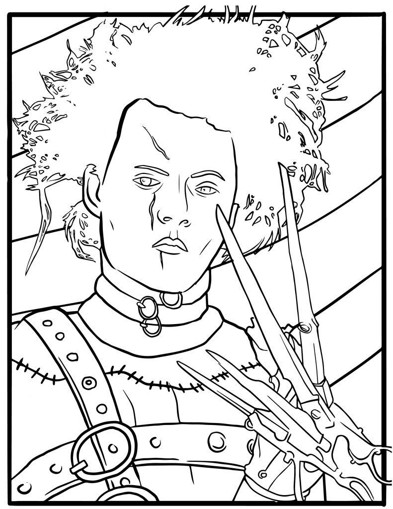 Free Edward Scissorhands Coloring Pages