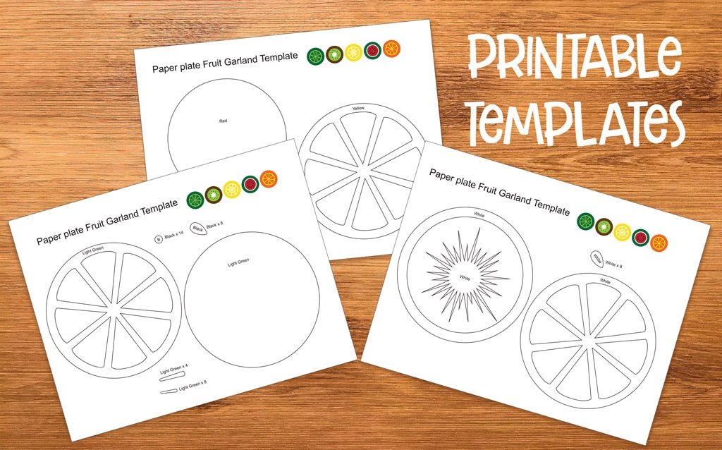 Paper Plate Fruit Templates