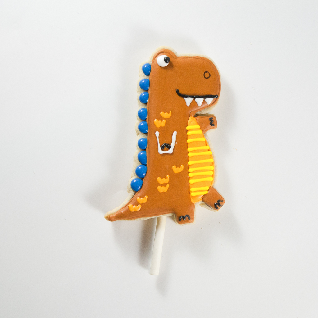 Dinosaur Cookie Cake Toppers Step 8