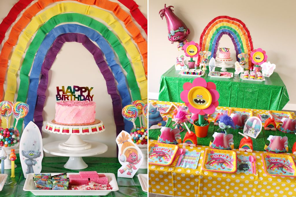 Trolls Birthday Party Decoration Ideas