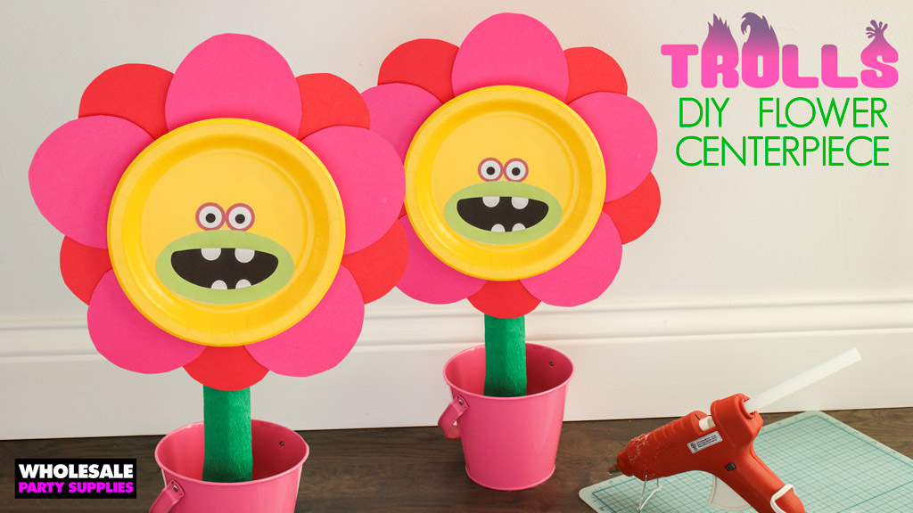 DIY <em>Trolls</em> Flower Pot Centerpiece