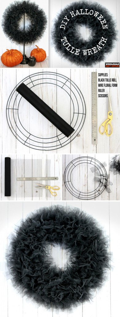 DIY Tulle Wreath Pinterest Guide