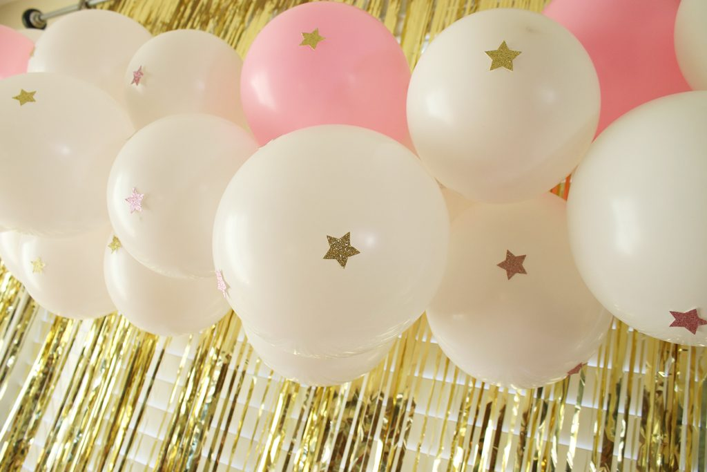 Twinkle Twinkle Pink Baby Shower Balloons