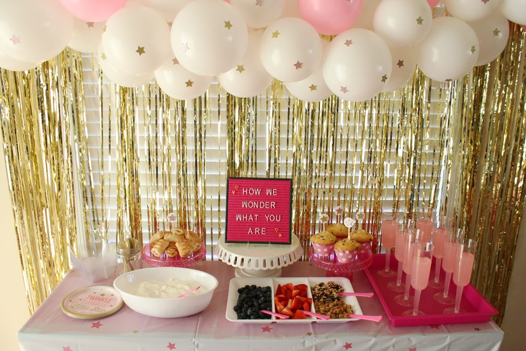 Twinkle Twinkle Pink Baby Shower Decorations
