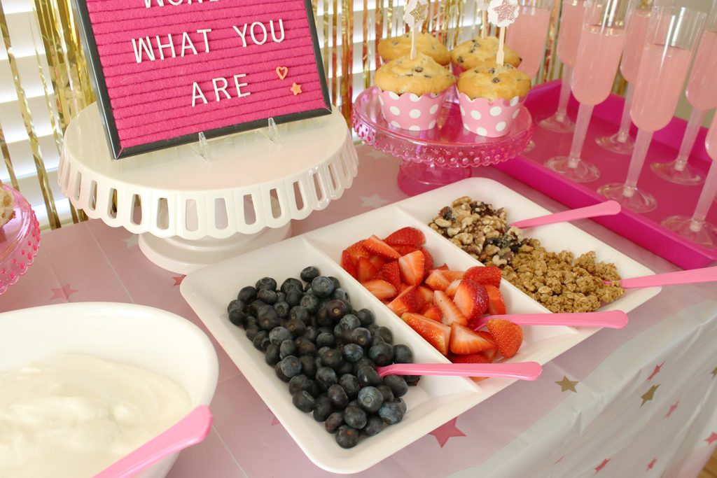 Twinkle Twinkle Pink Baby Shower Food