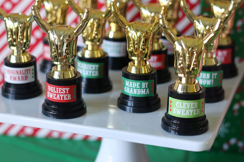Ugly Sweater Holiday Party Trophies