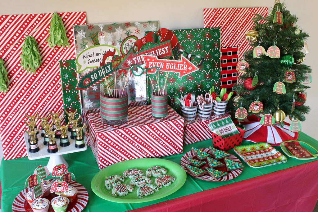 Ugly Sweater Holiday Party Decorations
