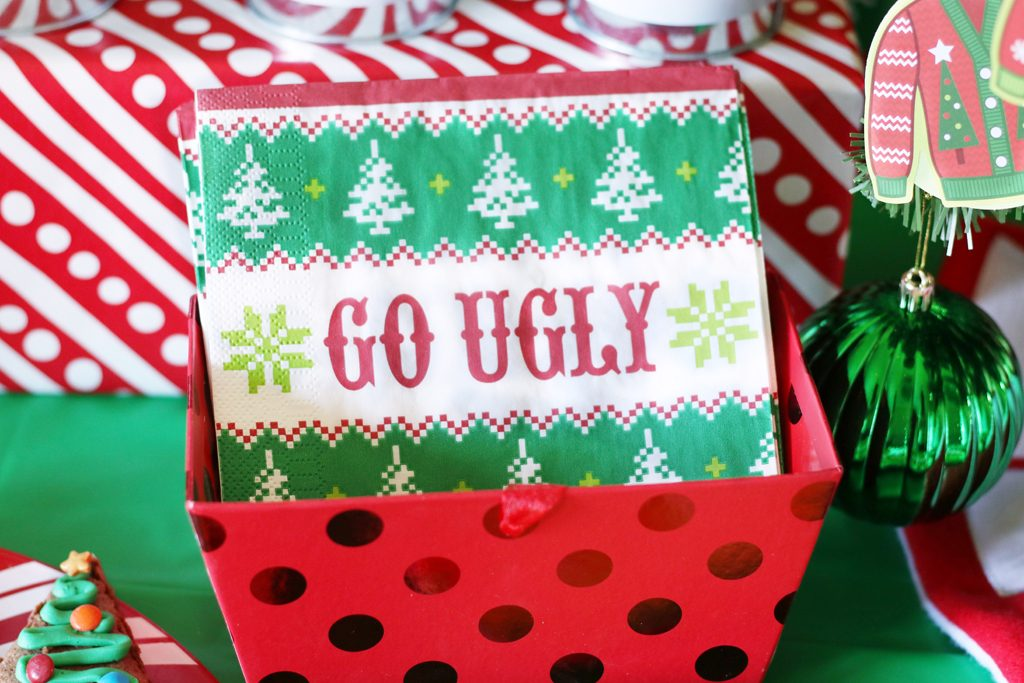 Ugly Sweater Holiday Party Napkins