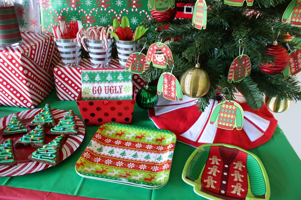 Ugly Sweater Holiday Party Tableware