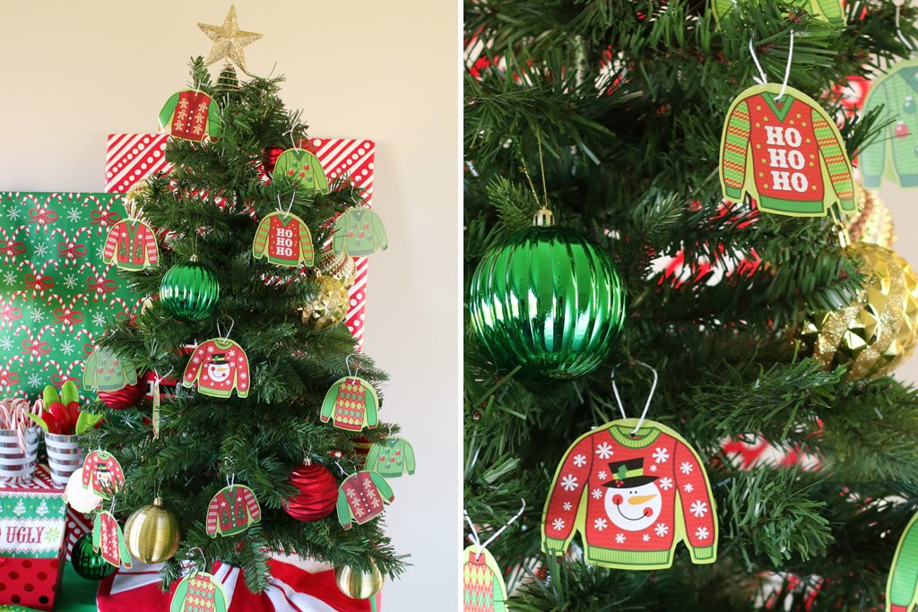Ugly Sweater Holiday Party Christmas Tree