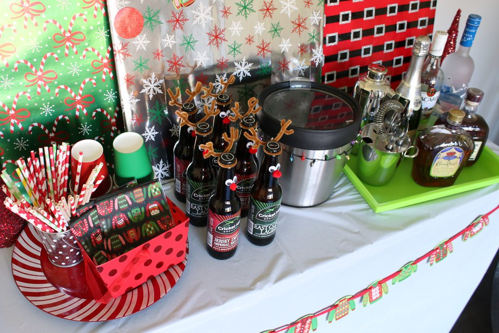 Ugly Sweater Holiday Party Bar