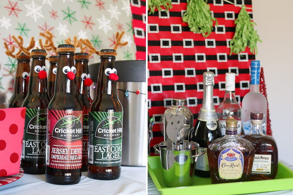 Ugly Sweater Holiday Party Drinks